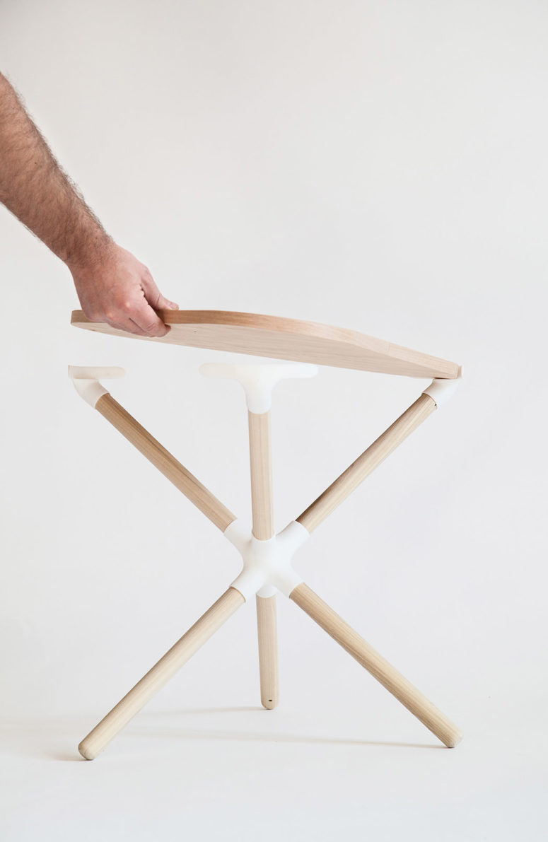 Create your own coffee table using the parts and white joints