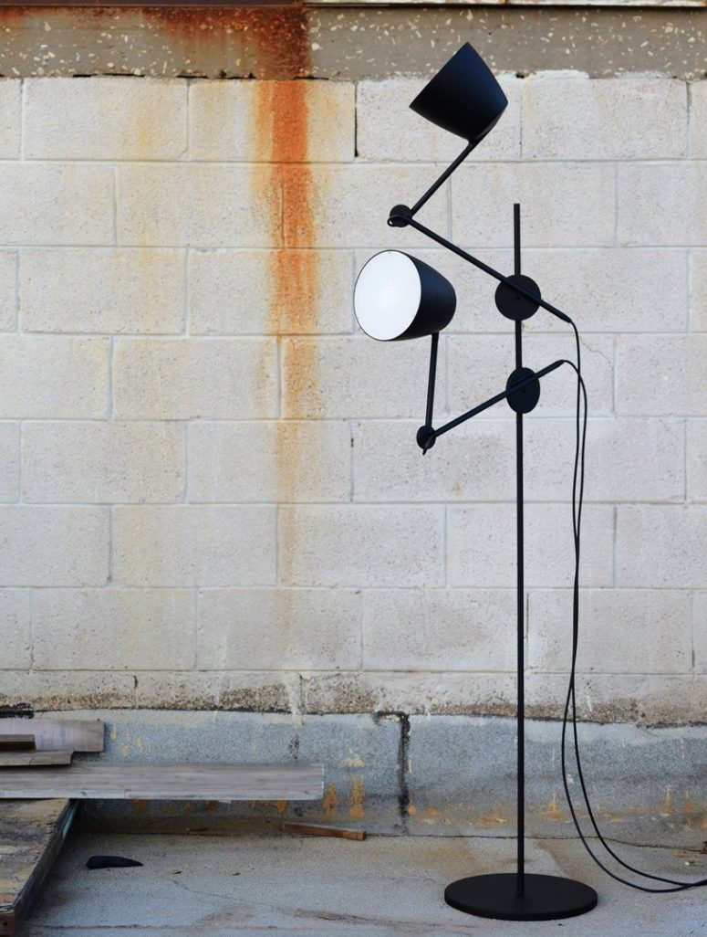 The black swan floor lamp can be used in a variety of settings from homes, offices, outdoors and the like