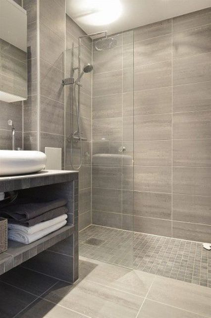32 walk in shower designs that you will love digsdigs - Bathroom floor tiles design ...