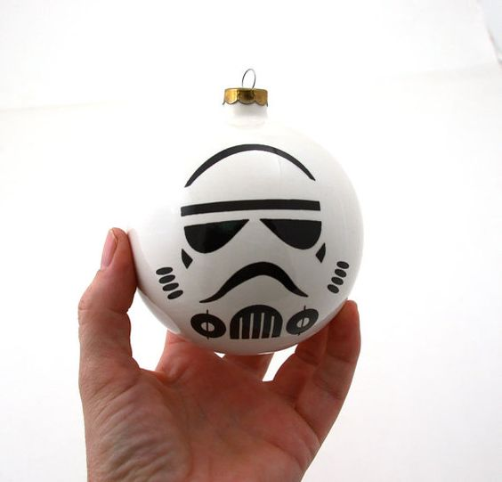 graphic Storm Trooper Christmas ornament