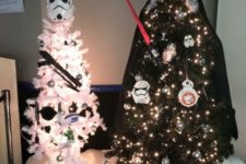 08 Storm trooper and Darth Vader trees with masks