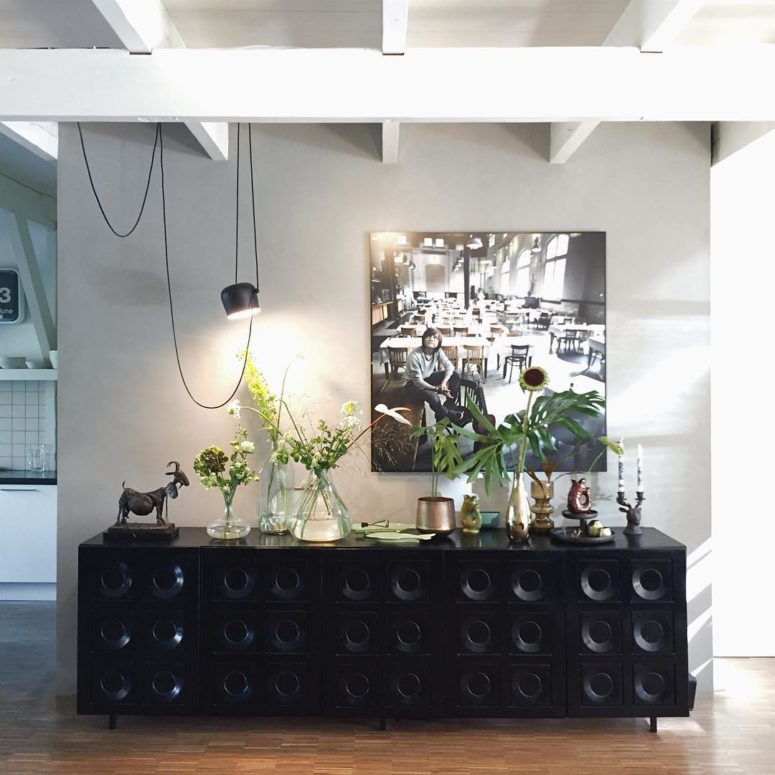 Such a unique sideboard can easily become a focal point