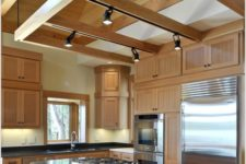 08 put track lighting on beams over your kitchen if there are any