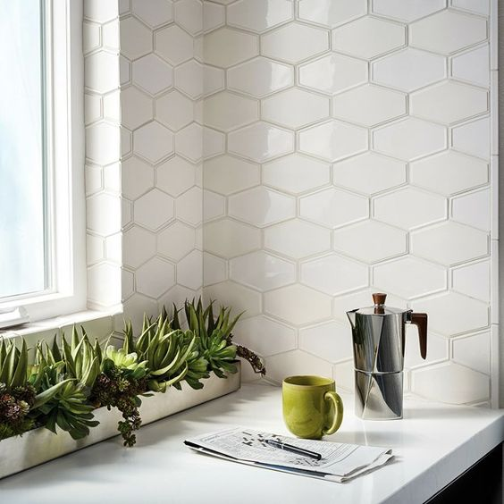 Hexagon Wall Tiles Kitchen