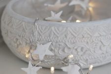 10 chic white bowl with star string lights