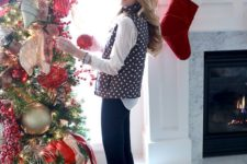 11 oversized metallic Christmas ornaments for accentuating a tree