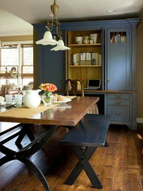 32 indoor picnic table ideas for a relaxed feel digsdigs. Black Bedroom Furniture Sets. Home Design Ideas