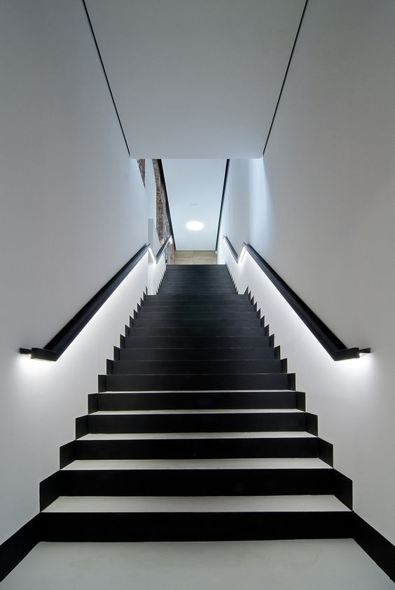 Lit Up Handrails Look Modern And Let You Not Turn On Other Lights