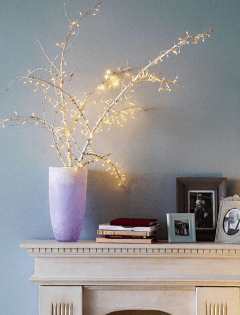such a combo is easy to make, just cover branches with string lights