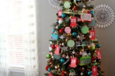 17 advent calendar Christmas tree is a cool two in one idea