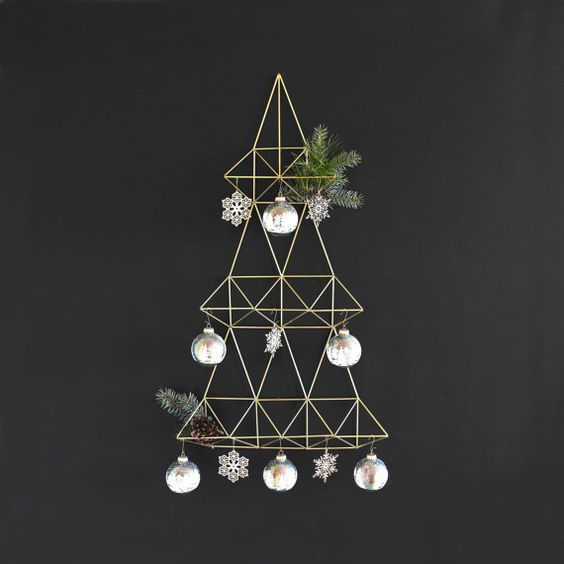 Black White Christmas Tree Ornament