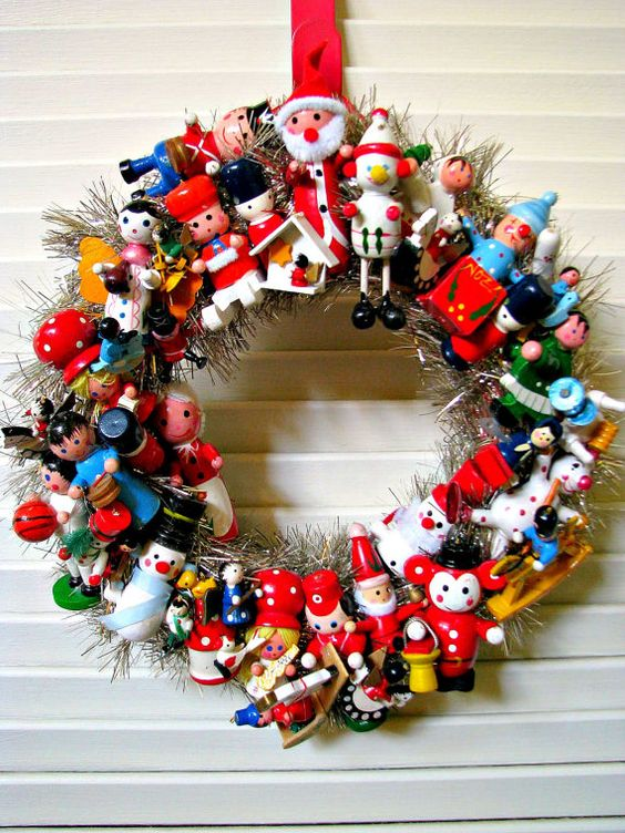toyland vintage Christmas wreath