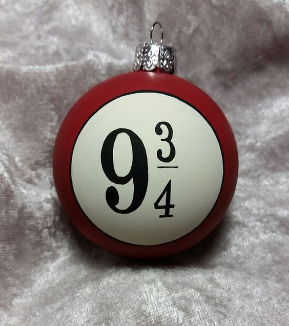 Harry Potter inspired ornament with a platform number