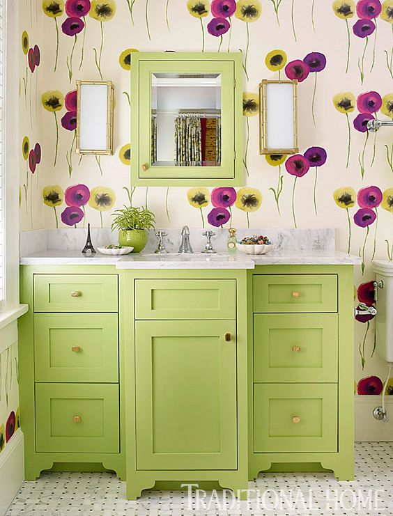 greenery bathroom cabinets and frames