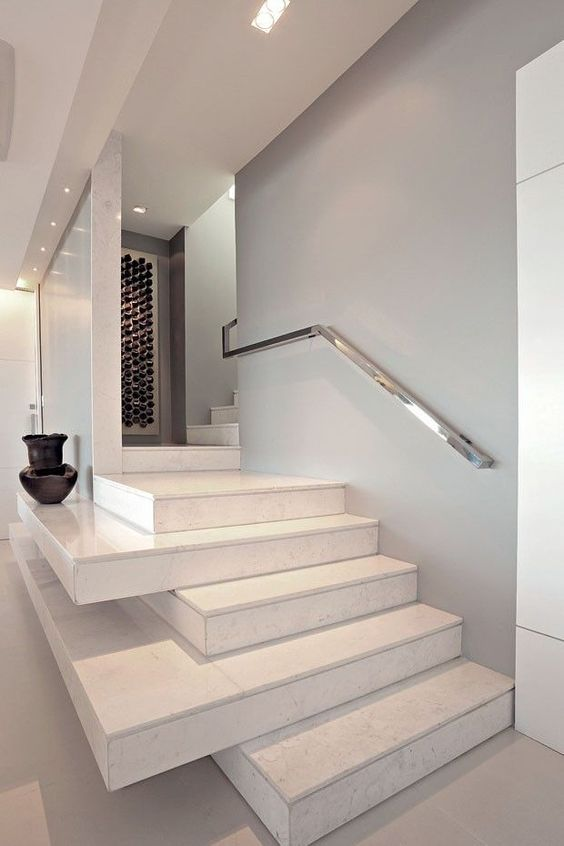 sleek metal handrail for a minimal yet elegant look