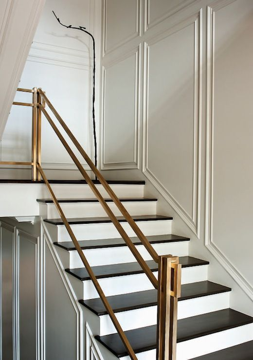 brass hand rail is timeless classics