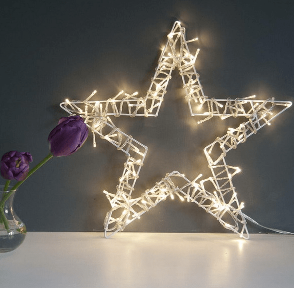 light up star decoration