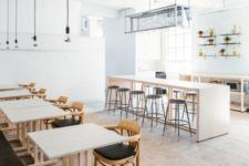 22 modern, even minimal coffee shop decor decorated with black and neutrals