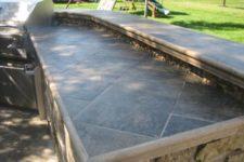 22 outdoor kitchen tile countertop
