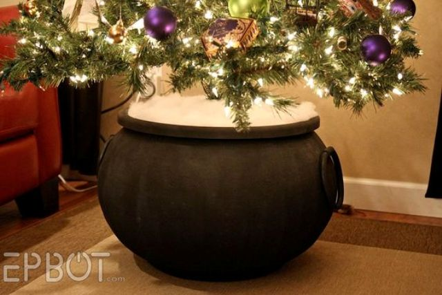 put your tree into a cauldron instead of a basket