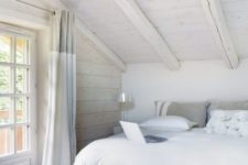 22 white track lights will accentuate the sleeping area