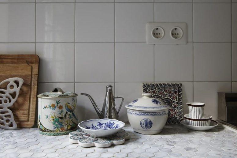 White Tile Kitchen Countertops hot décor trend: 24 tile kitchen countertops - digsdigs