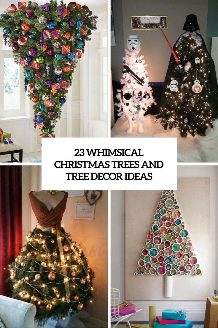whimsical christmas trees and tree decor ideas cover
