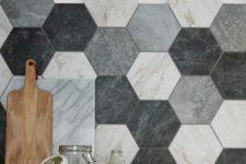 24 ombre mosaic tile pattern for a backsplash