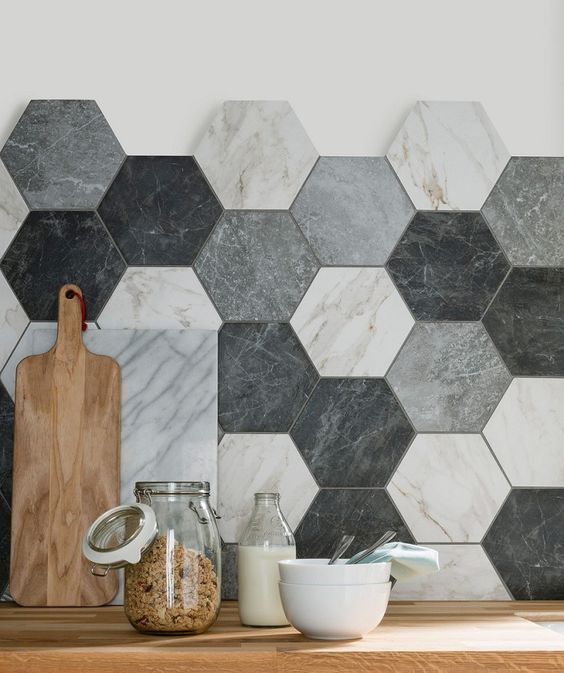 ombre mosaic tile pattern for a backsplash