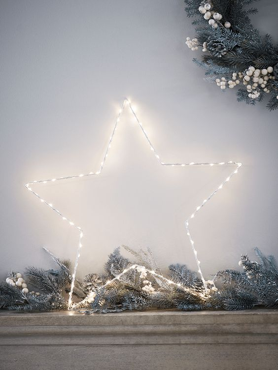 star shaped wire light will complement any Christmas look