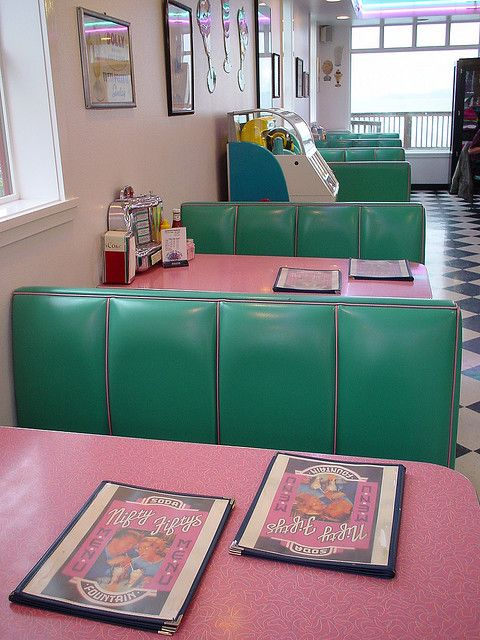 super colorful green and pink interior in the 60s style