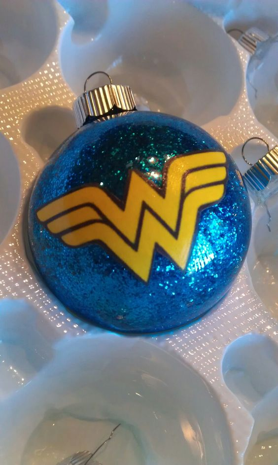 glitter Wonder Woman ornament