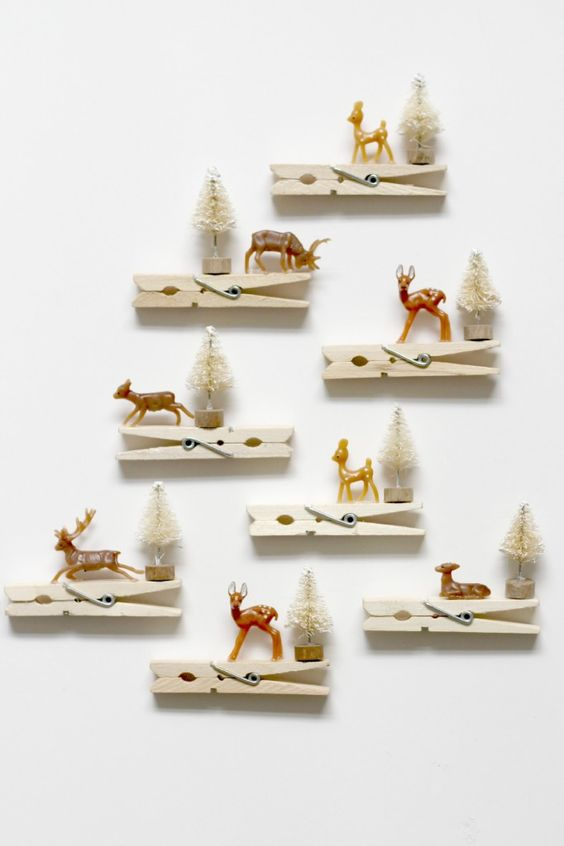 reindeer clothespins ornaments