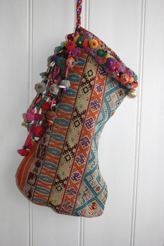 gypsy stocking from vintage textiles