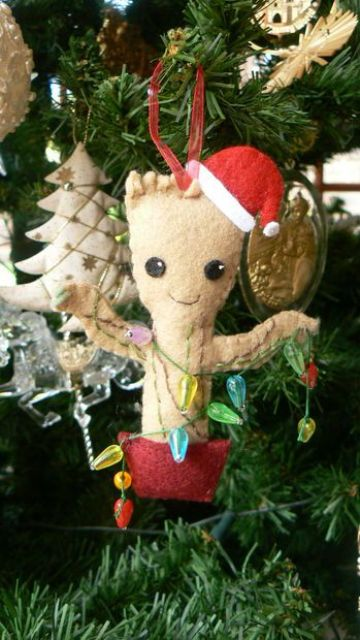 baby Groot Christmas felt ornament