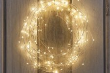 36 naked wire string lights wreath