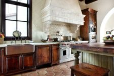36 stunning large hex tile on the floor looks exquisite with natural wood furniture