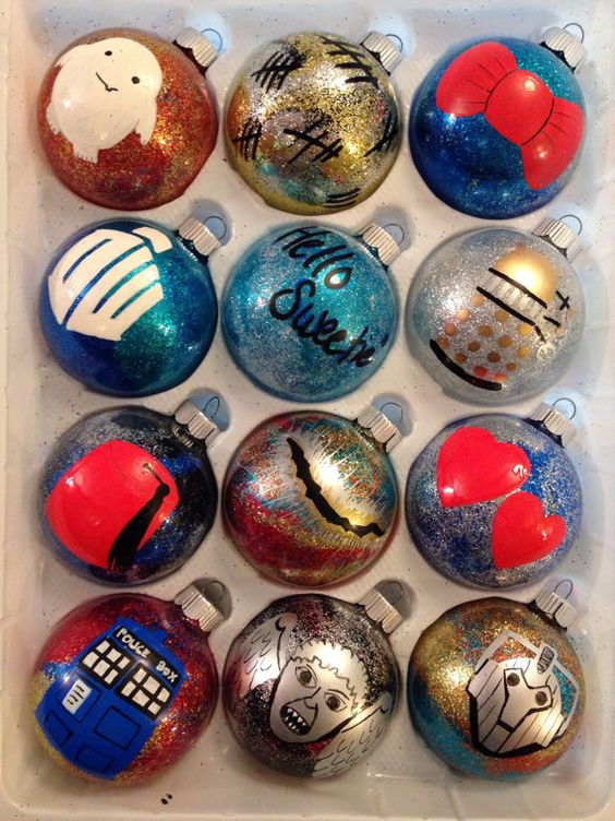 DIY Doctor Who ornaments