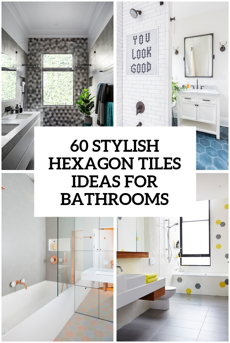 39 stylish hexagon tiles ideas for bathrooms - digsdigs