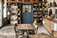 rustic wood always creates comfy environment where you want to spend time with a cup of coffee