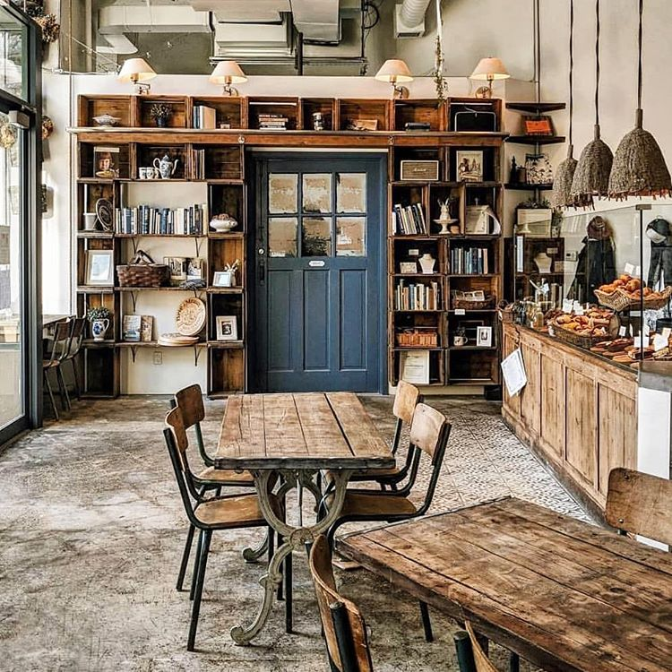 rustic wood always creates comfy environment where you want to spend time with a cup of coffee (via @the_daily_social)