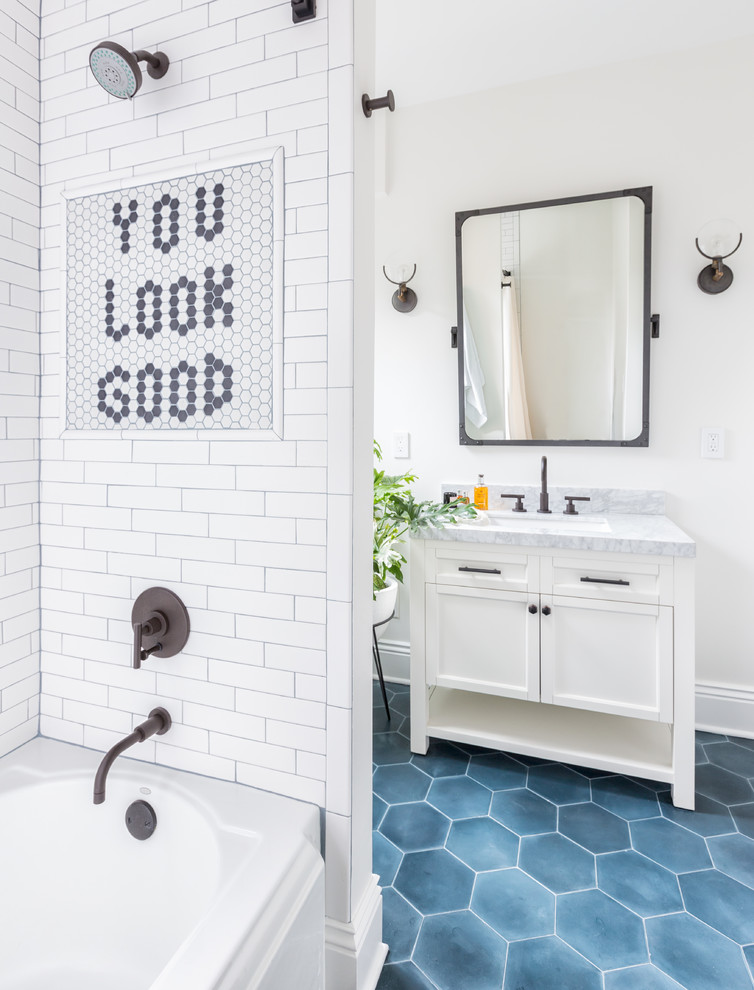 60 Stylish Hexagon Tiles Ideas For Bathrooms Digsdigs