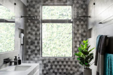 hexagon tiles bathroom ideas