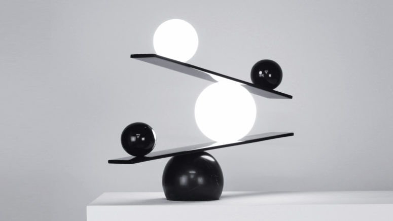 Monochrome Balance Lamp With A Philosophical Meaning