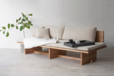 01 Blank daybed or sofa is based on traditional Korean furniture drawings and it mixes modern Western and traditional Eastern views