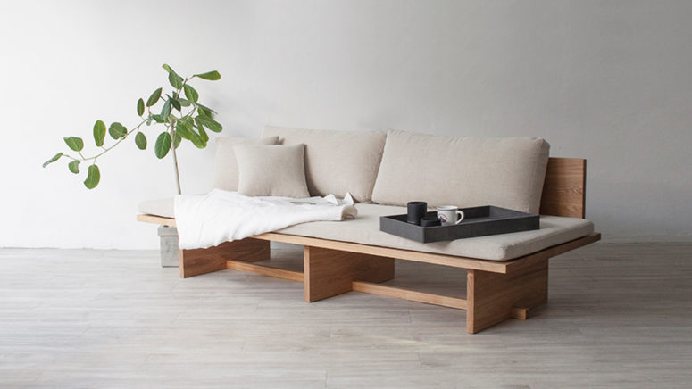 Blank Daybed Or Sofa Is Based On Traditional Korean Furniture Drawings And  It Mixes Modern Western