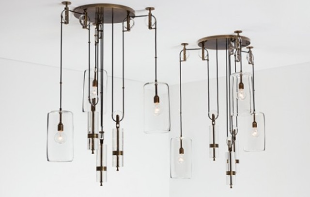 Counterweight chandelier by Alison Berger is inspired by Galileo's gravitational studies