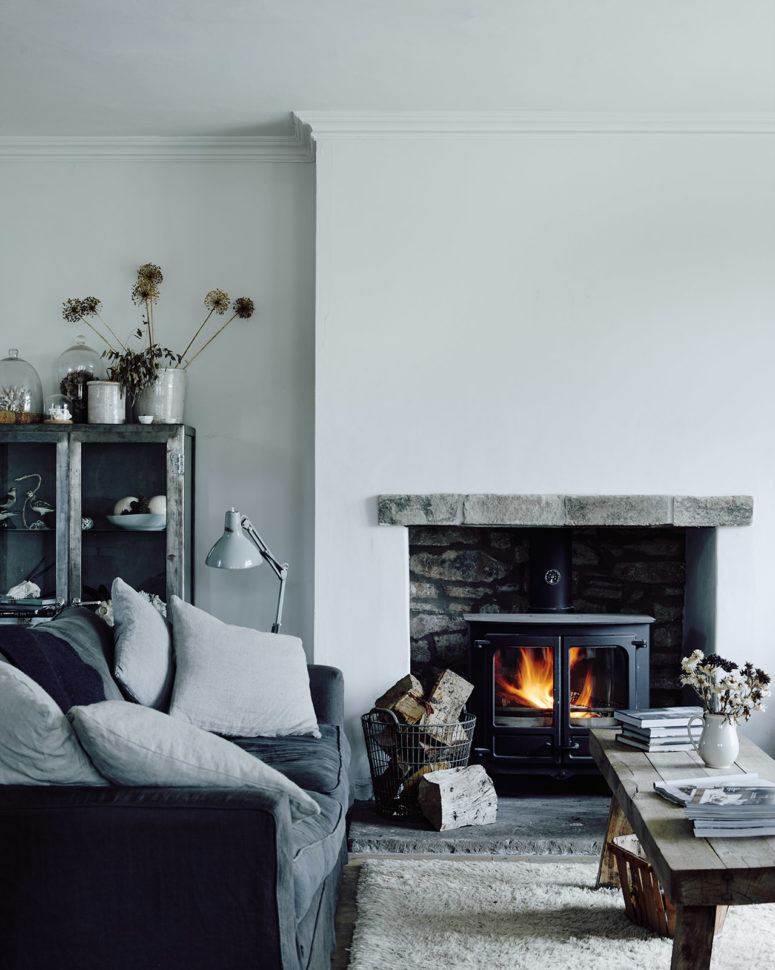 This Scandinavian home represents the concept of hygge, which means 'cozy, comfortable, known'