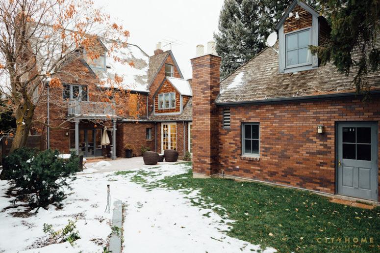 Tudor Outside And Colorful Modern Inside House