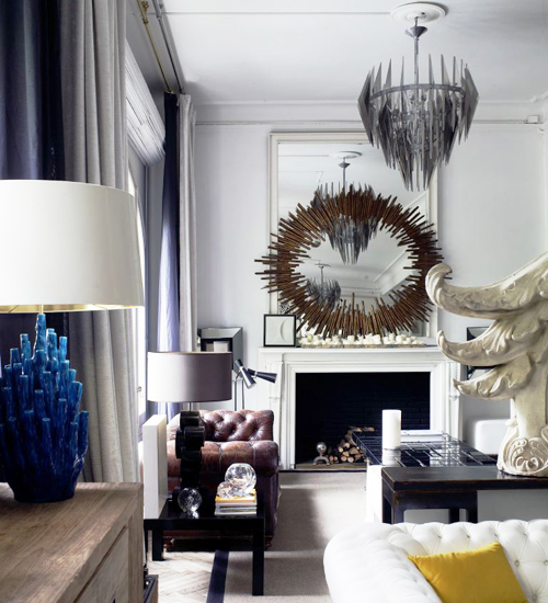 This breathtaking apartment belongs to a Spanish artist and designer and was decorated by himself